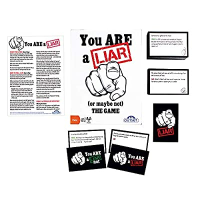 You Are A Liar - Fact Or Fiction Guessing Party Game - Features 120 Truth and 120 Lie Cards - Ages 12+: Toys & Games