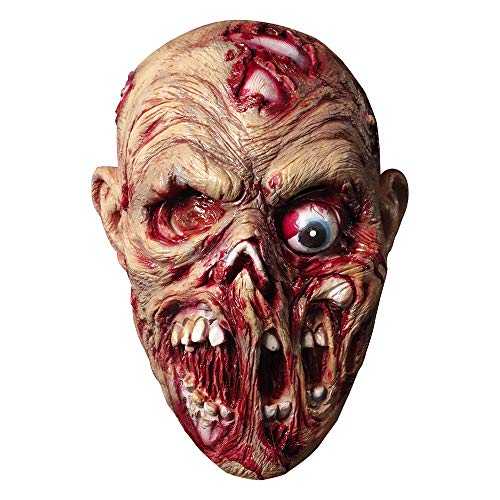 Screaming Corpse Mask Halloween Costume Horror Bloody Skull Latex Mask Evil Scary Zombie Rubber Mask]()