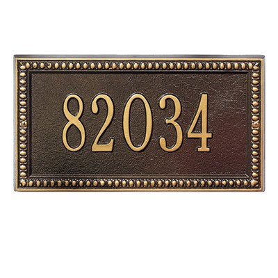 Egg and Dart Standard Address Plaque Finish: Antique Copper