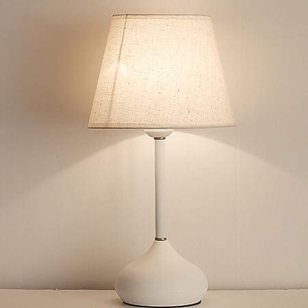 Bombillas LED Cubierta de lino Lámpara de mesa Lámpara de mesa ...