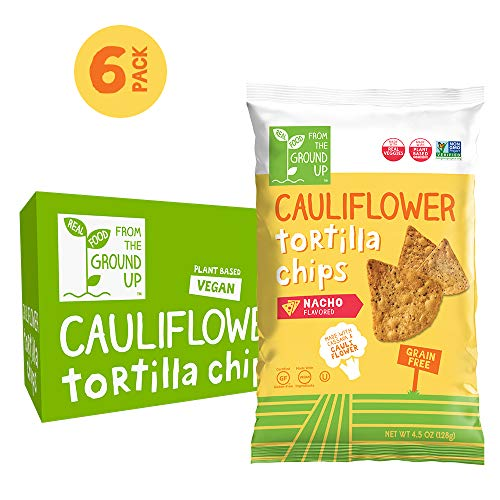 Real Food From The Ground Up Cauliflower Tortilla Chips - 6 Count, 4.5 Oz Bags...