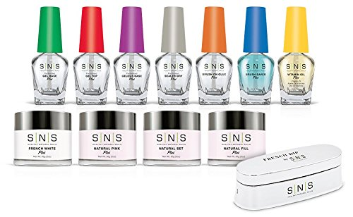 SNS Nails Dipping Powder, Student Starter Kit 4, Pink and White kit4