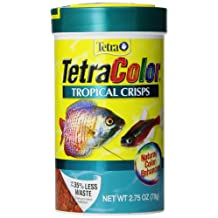 Tetra 77198 2.75-Ounce, 375ml TetraColor Tropical Crisps with Feeding Lids