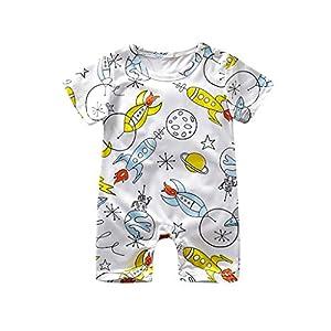 0-2 Years,SO-buts Toddler Infant Baby Girls Boys Lovely Short Sleeve Sleepwear Cartoon Print Romper Jumpsuit Summer…
