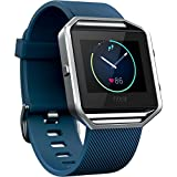 Fitbit Blaze Smart Fitness Watch, Blue, Silver, Large (US Version)