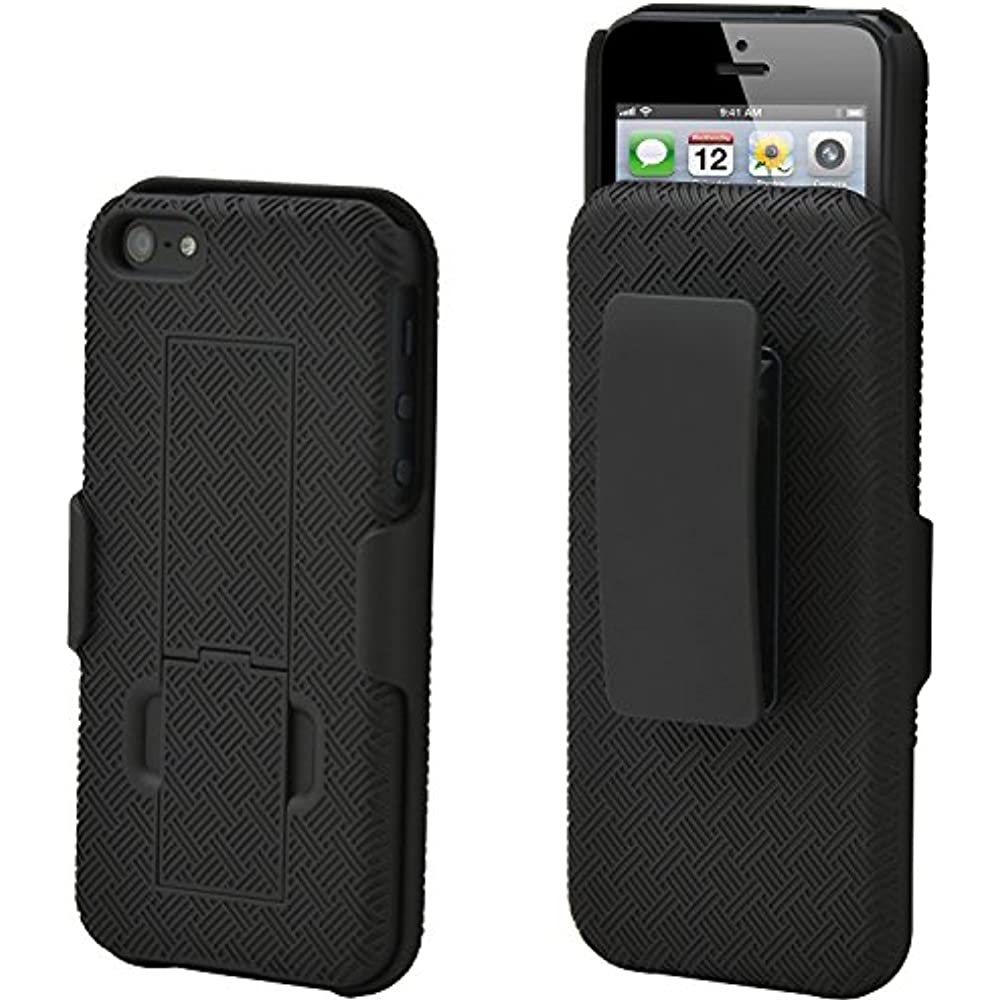 shell holster combo case for apple iphone se 5 5s with. Black Bedroom Furniture Sets. Home Design Ideas