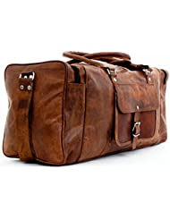 PC 24 Leather Duffel Travel Gym Overnight Weekend Leather Bag Sports Cabin