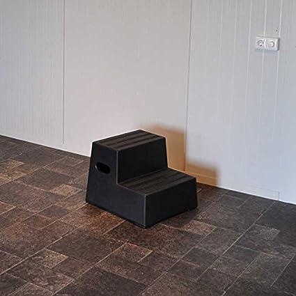 Montoir Exclusif avec 2 marches noir