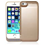 iPhone 5 / 5S / 5C / SE Battery Case, AexPower Upgraded 4800mah