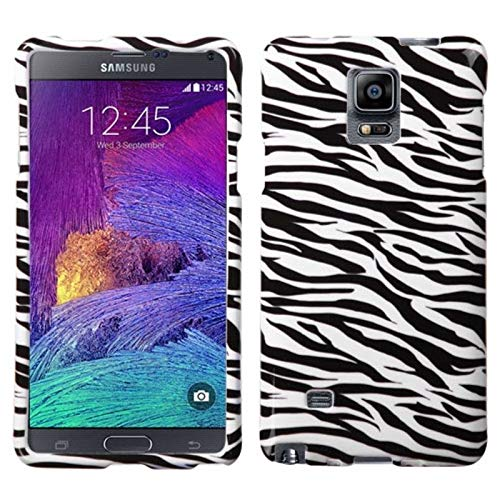 Insten Zebra Rubberized Hard Snap-in Case Cover Compatible with Samsung Galaxy Note 4, Black/White