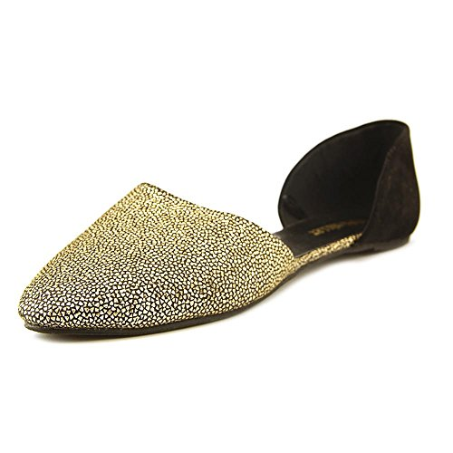 Pointy Toe Gold Olivia Women's Ballet Shank 'Giselle' Black Flats Double Open Miller wrzwIqv8
