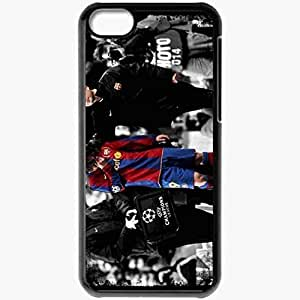 Personalized iPhone 5C Cell phone Case/Cover Skin Messi Crying Lionel Messi FC Barcelona Football Black