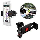 EXOGEAR ExoMount Touch Air HTC One/Dual Sim/Max/ME/Mini/Mini 2/Remix Phone Car Air Vent Mount (Easy 1-Touch Mounting; Rattle-Free Design; Multi-Angle 360-Degree Viewing)