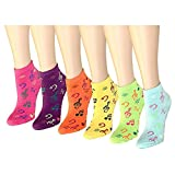 12-Pack Womens Ankle Socks Assorted Colors Size 9-11