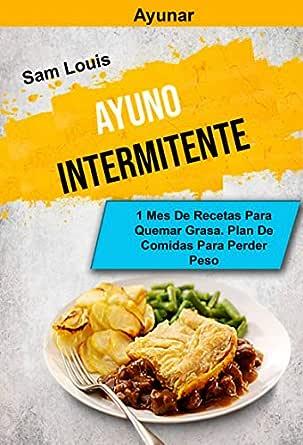 recetas para bajar de peso en un mes español