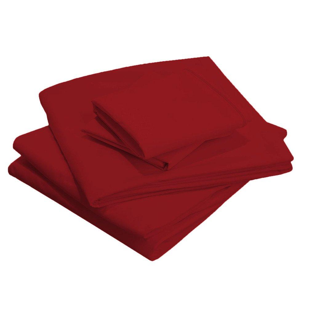 Scalabedding 76,2 cm Super Deep Pocket 100% ägyptische Baumwolle Fadenzahl 500 Olympischen Queen Solid Tabelle Set Burgund