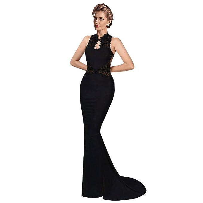 797338bb ZKOO Vestido de Mujer Elegante Sin Mangas Vestido Largo De Noche ...
