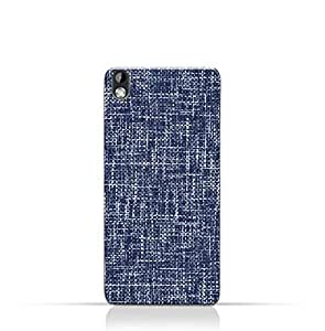 AMC Design HTC Desire 816 TPU Silicone Case with Brushed Chambray Pattern
