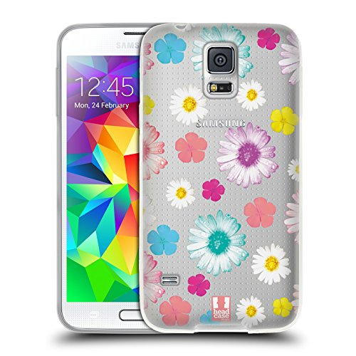 Head Case Designs Colourful Daisies Flower Power Soft Gel Case for Samsung Galaxy S5 / S5 Neo