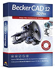 Becker CAD 12 3D PRO - sophisticated 2D and 3D CAD software for professionals - for 3 PCs - 100% compatible with AutoCAD and Windows 10, 8 and 7