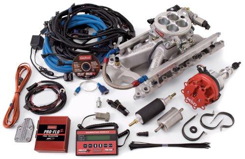 Edelbrock 352101 Pro-Flo 2 Electronic Fuel Injection Kit Polished Finish Incl. Manifold/Throttle Body/Fuel Rails/Fuel Injectors/ECU/Calibration Module Pro-Flo 2 Electronic Fuel Injection Kit