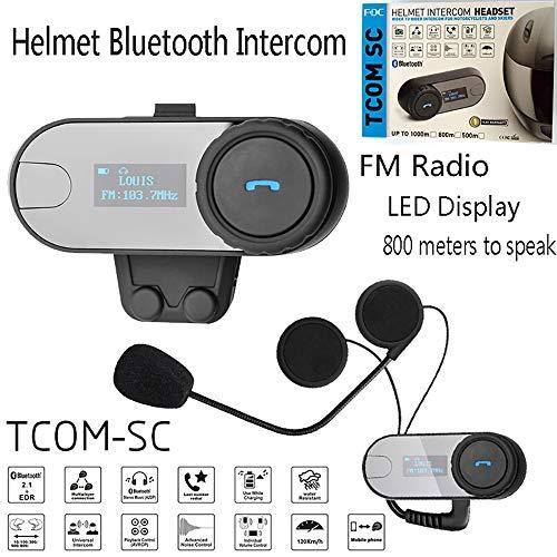 Nuevo FDC Bluetooth Auriculares Walkie-Talkie Montar Motocicleta Casco Bluetooth Auriculares Accesorios