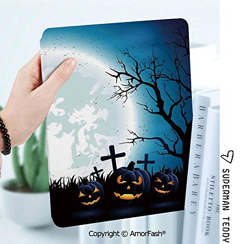 Case for Samsung Galaxy Tab A 8.0 2017 Release for T380/T385,Auto Wake/Sleep,Halloween Decorations Spooky Concept with Scary Icons Old Celtic Harvest Figures in Dark Image]()