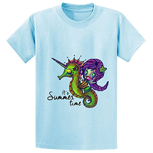 Likeu Its Sumer Time Girls Short Sleeve Crew Neck T Shirt