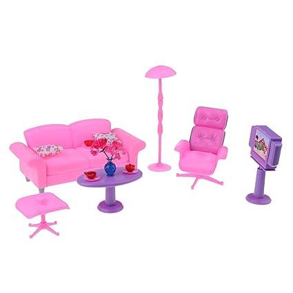 Amazon.com: Homyl 1/6 Sofa End Table Recliner TV Living Room Kit for ...