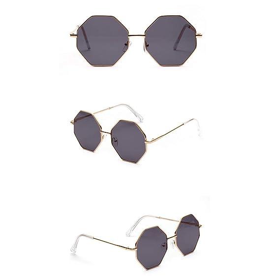 19737df3db Mymyguoe Dama Gafas de Sol Gafas de Sol hexagonales Mujeres Vintage Gafas  de Sol Retro Gafas
