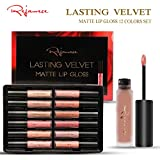 Lip Gloss Set - Waterproof Long Lasting Matte Lip Gloss Liquid Lipstick Set Beauty Makeup Cosmetics Lip Stick Lip Glosses 12 Colors Set by Rejawece