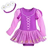 Disney Rapunzel Costume Bodysuit with Headband for Baby Size 18-24 MO Multi