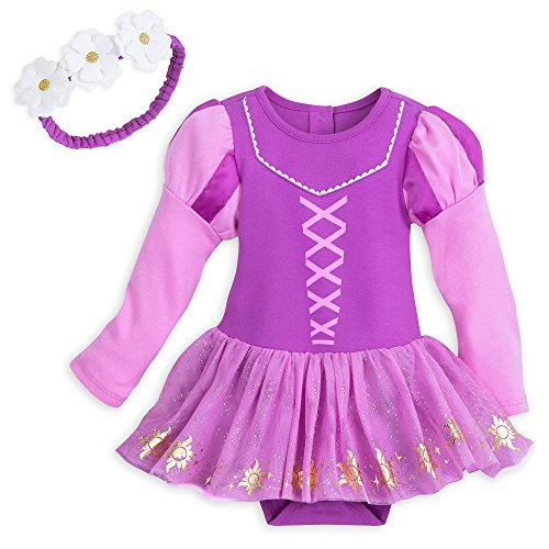 Disney Rapunzel Costume Bodysuit with Headband for Baby Size 18-24 MO -