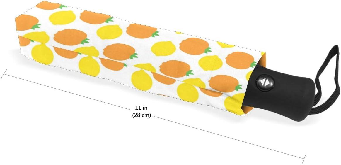 Red Tomatoes And Yellow Lemon fashion print cute Windproof automatic tri-fold umbrella sun UV protection Sun umbrella