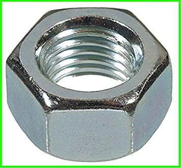 1//4-20 Zinc Plated Steel Hex Nuts by Dolos 110 Pack