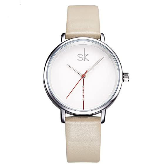 Shengke Fashion Black Women Watches 2017 Ultra Thin Quartz Watch Woman Elegant Dress Ladies Watch Montre
