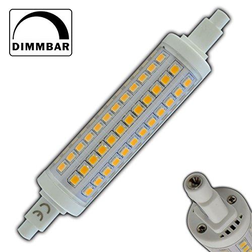 R7s LED 10 Watt rund 118mm dimmbar 108x SMDs warmweiß - 3000K