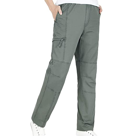 Zengbang Hommes Grande Taille Pantalons de Sport Taille Élastique Lâche  Respirant Pantalon Décontracté Cargo (Armée 20d923f785dd