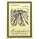 Home Brew Ohio HOZQ8-724 Montepulciano Style Wine Labels, Multi