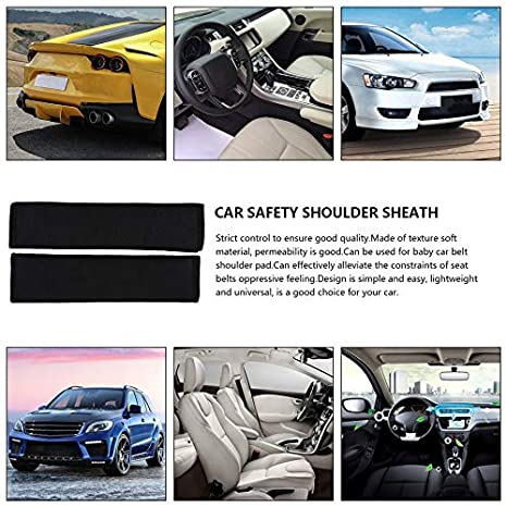 2x Car Seat Belt Cover Safety Shoulder Pads Strap Protection For Mitsubishi