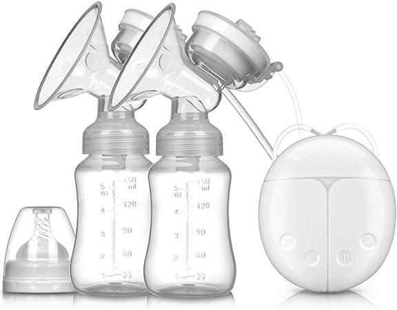 Wiederaufladbare Doppel-Stillpumpe Elektrische Brustpumpe f/ür Brustmilchabsaugung und Brustmassage Elektrische Milchpumpe