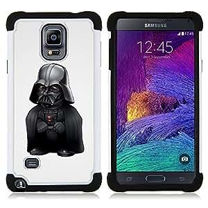 - LOL Funny Midget Vader/ H??brido 3in1 Deluxe Impreso duro Soft Alto Impacto caja de la armadura Defender - SHIMIN CAO - For Samsung Galaxy Note 4 SM-N910 N910