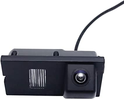Black 170/° Viewing Angle 4 IR LED Night Vision Multi-Function Car Reversing Rear View//Side View//Front View /& Security Pinhole Spy Camera Glumes Mini Backup Camera