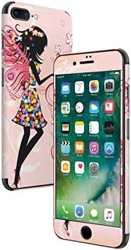 igsticker iPhone SE 2020 iPhone8 iPhone7 専用 スキンシール 全面スキンシール フル 背面 側面 正面 液晶 ステッカー 保護シール 005591 ラブリー 妖精 花 フラワー