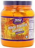 NOW Whey Protein Isolate Unflavored Powder,1.2-Pounds