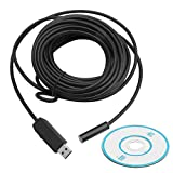 Mimgo 10M USB Waterproof HD 4LEDs 10mm Borescope Endoscope Inspection Tube Camera with USB Adpater