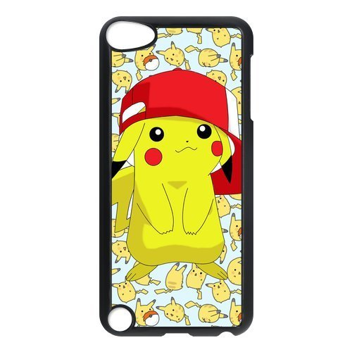 Price comparison product image Customize Hard Plastic Shell Pokemon Pikachu Back Case Suitable For iPod Touch 5th Generation