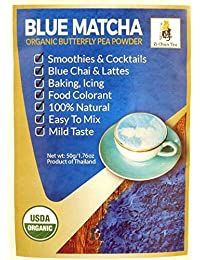 Organic Butterfly Pea Flower Powder from Thailand - Blue Matcha - Butterfly Pea Flower Extract - Blue Tea from...