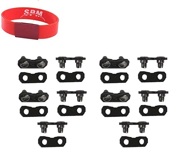 12 Sets Heavy Duty Chainsaw Chain Repair Kits 3//8 LP .050 Inch Links Tie Straps