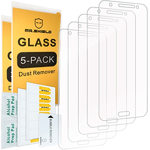 [5-Pack]-Mr.Shield for Samsung Galaxy J7 Neo [Tempered Glass] Screen Protector [Japan Glass with 9H Hardness] with Lifetime Replacement